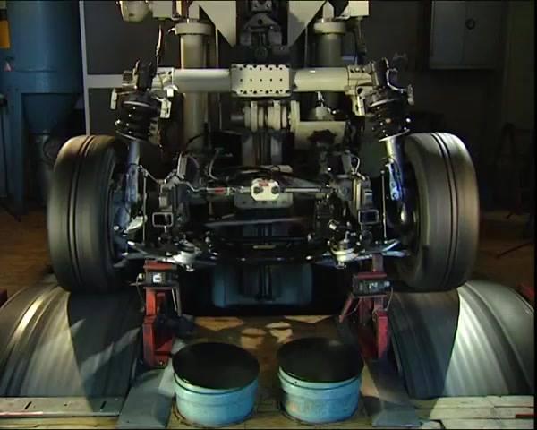 Bancada de teste do sistema de motor de um carro. Com as curvas acentuadas, freiadas bruscas, etc.  O qu …